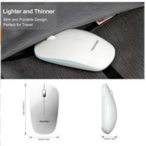 Slim Wireless Mouse TeckNet 2.4G USB Cordless PC Computer Windows Mac1